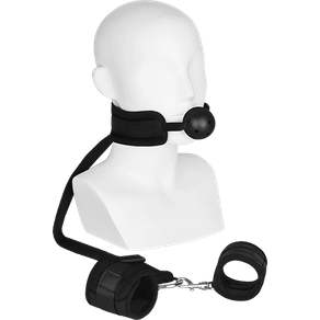Rimba 'Mouthgag With Cuffs', 2 Teile