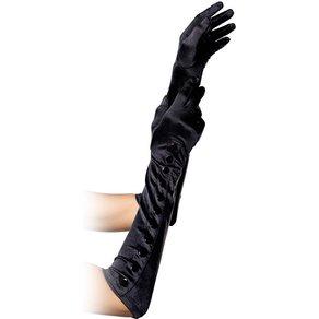 Leg Avenue Lange Satin-Handschuhe mit Knöpfen