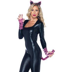 Leg Avenue Leoparden-Set mit Handschuhen, 3 Teile