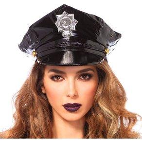 Leg Avenue Polizeihut aus Vinyl