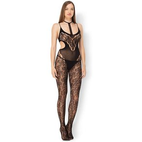 Leg Avenue 'Halter Lace Bodystocking'