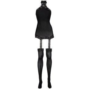 Dreamgirl Minikleid mit integrierten Strümpfen