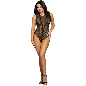 Dreamgirl Mesh-Body mit floralem Muster