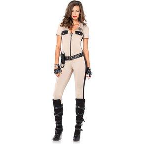 Leg Avenue Sexy Deputy-Overall mit Gürtel, 4 Teile