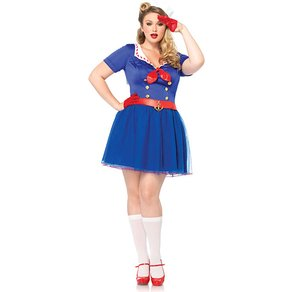 Leg Avenue Matrosinnen-Kleid mit Haube, 2-teilig