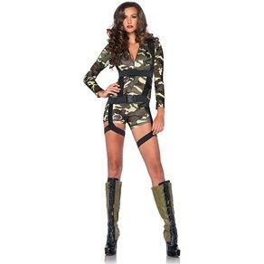 Leg Avenue Knapper Camouflage-Anzug, 2 Teile