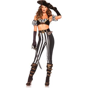 Leg Avenue 'Black Beauty Pirate', 5 Teile