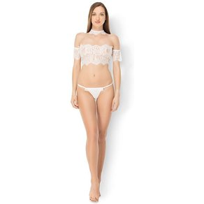 Leg Avenue 'Crop Top & Panty Set', 3 Teile