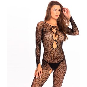 René Rofé 'Crotchless Lace Bodystocking'