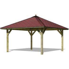 Karibu Sparset Pavillon-Set Holm 1 BxT 431x431 cm