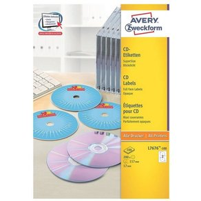 ZWECKFORMAVERY 200er-Pack CD- DVD-Label L7676-100