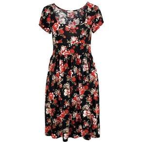 cheer Jerseykleid mit Blumendruck oder einfarbig