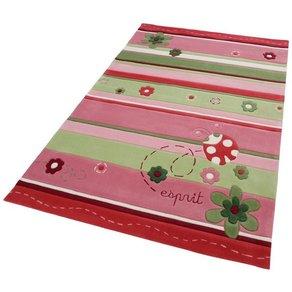 Esprit Kinderteppich Ladybird Esprit rechteckig Höhe 10 mm Marienkäfer Motiv Kurzflor