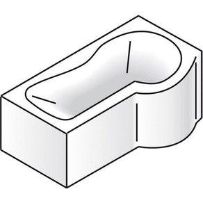 Schulte Wannen-Dusch-Kombination B T H in cm 170 70 197 Sicherheitsglas