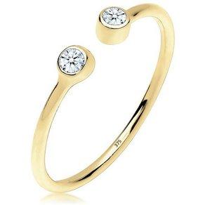 Elli Ring Offen Statement Diamant 0 06 ct 375 Gelbgold