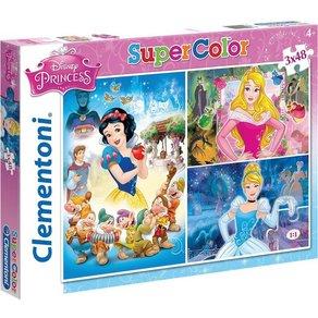 Clementoni Puzzleset 3 x 48 Teile Disney Princess