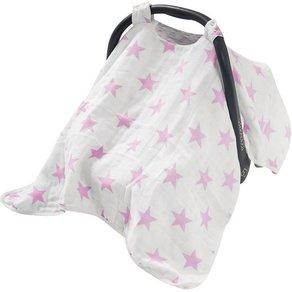 Jollein Wende- Schattenspender mit Druckknöpfen Sterne rosa