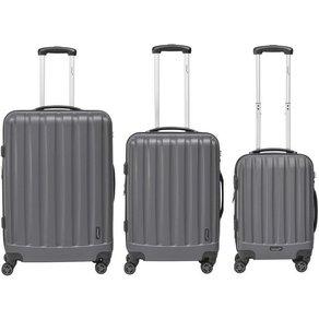 Packenger Trolleyset Velvet 4 Rollen Set 3 tlg