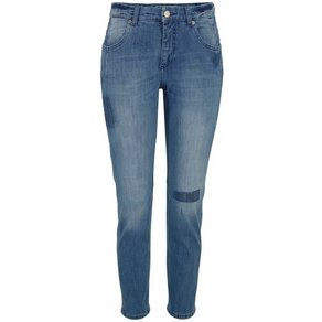 MAC Stretch-Jeans Sexy Carrot in vintage blue mit Glitzersteinchen