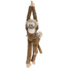 WILD REPUBLIC  Hanging Monkeys Totenkopfaffe mit Baby 51cm