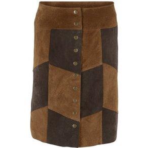 heine CASUAL Lederrock aus weichem Porc-Velours