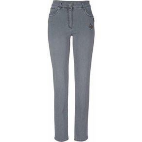 bianca Slim-fit-Jeans Denver mit Schmucksteinen am Tascheneingriff