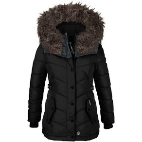 khujo Outdoorjacke Winsen2 mit Fellimitat