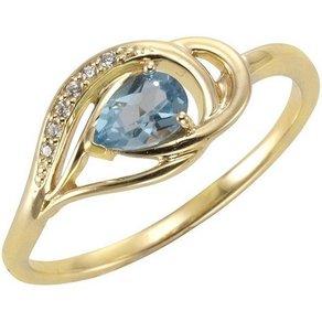 Vivance Ring 375 Gelbgold mit Blautopas Zirkonia