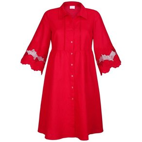 Alba Moda Strandkleid Kleid mit Leinenanteil