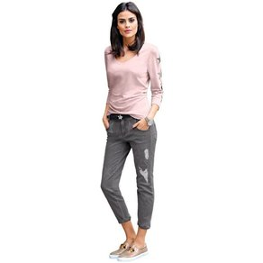 Alba Moda Jeans mit exklusivem Sternedruck