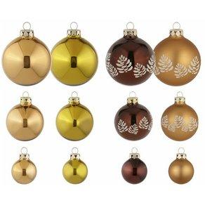 Thüringer Glasdesign Weihnachtsbaumkugel Waldgeflüster 30 Stück mundgeblasen