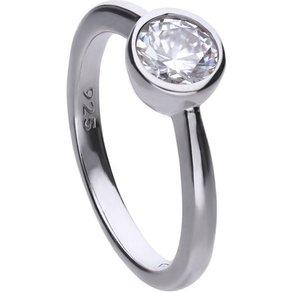 diamonfire Ring 925 Sterling Silber rh Solitär mit Zirkonia