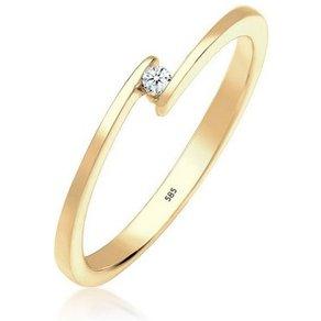 Diamore Ring Verlobung Diamant 0 03 ct Elegant 585 Gelbgold