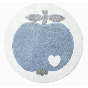 Happy Rugs Kinderteppich byGraziela APFEL weiss blau 133 cm rund
