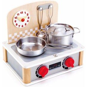 Hape Kinder-Herd 2-in-1 Küchen- Grill-Set 6-tlg