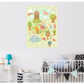 Posterlounge Wandbild Petit Griffin Faire Tale für das Kinderzimmer