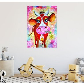 Posterlounge Wandbild siegfried2838 Kuh Karla Tiere für Kinder Kinderzimmer