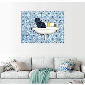 Posterlounge Wandbild Ditz Meine Badezimmer-Katze