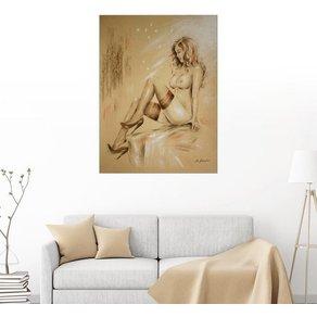Posterlounge Wandbild Marita Zacharias Akt in High Heels Malerei