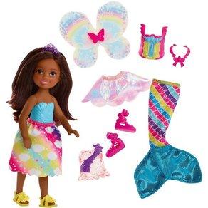 Mattel Barbie Dreamtopia 3-in-1 Fantasie Chelsea brünett