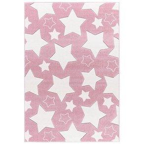 Happy Rugs Kinderteppich SKY rosa weiss 160 x 230 cm