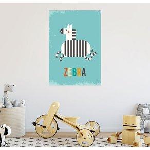 Posterlounge Wandbild Petit Griffin Baby Zebra für das Kinderzimmer