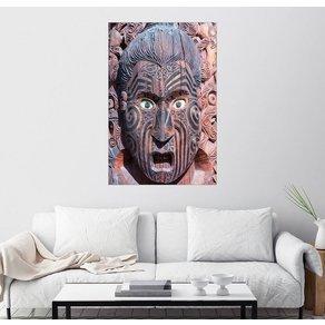 Posterlounge Wandbild Matteo Colombo Hölzerne Maori-Maske