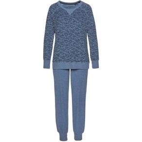 seidensticker Pyjama aus Frottee mit bedrucktem Oberteil