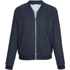 Angel of Style by Happy Size Sweatjacke im Blouson-Style mit Stern-Steppung