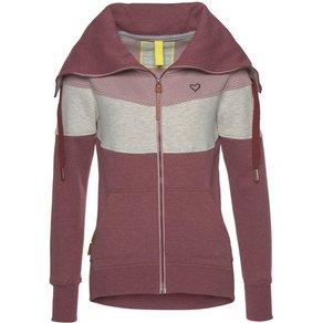 alife and kickin Sweatjacke SUNSHINE B modischer Sweater mit Kragen im Trend Colourblocking