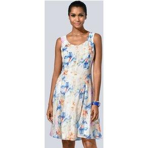 Alba Moda Druckkleid mit blumigem Sommer-Muster
