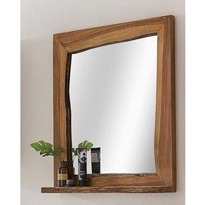 Kasper-Wohndesign Badezimmer Spiegel Akazie Massiv-Holz Live Edge