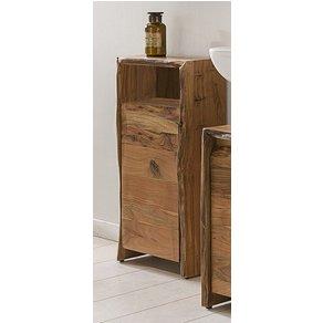 Kasper-Wohndesign Badezimmer Schrank klein Akazie Massiv-Holz Live Edge