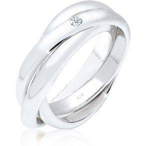 Elli Diamantring Verlobungsring Diamant 0 03 ct 925 Silber